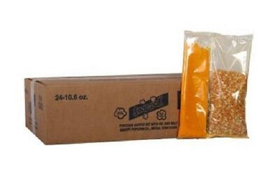 Popcorn Machine Supplies - Snap Paks For 8 Oz - 24cs Popcorn Packs