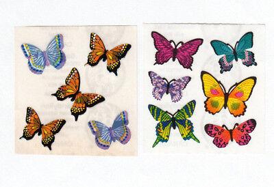 Two Vintage Sandylion Sticker Mods - Prism Butterfly Kromekote Butterflies