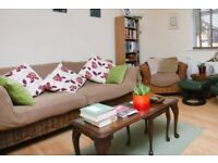 Marks and Spencer rattan sofa, armchair and coffee table