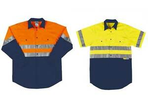 Adults-Hi-Vis-Work-Shirt-Day-Night-L-S-S-S