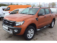 Orange Ford Ranger 3.2TDCi 4x4 Wildtrak Double Cab FROM £93 PER WEEK!