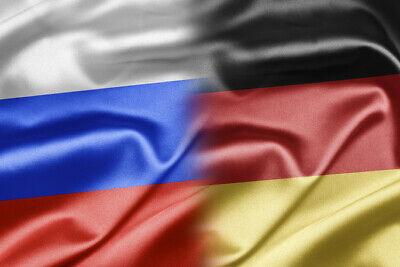 Gemany& Russia Flag, Bügelbild,Markenqualität Waschbar bis