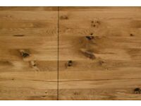 Solid Characterful Rustic Extendable Oak Farmhouse Table Modern Dining Kitchen Table Extending