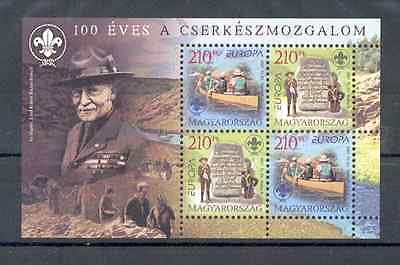 Hungary 2007 - Souvenir Sheet and FDC ''100 Years of Scouts Organization'' MNH**