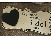 Wedding decorations- hanging plaques and love letter balloons