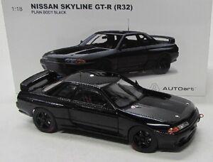 Nissan Skyline GT-R / R32 ( 1992 ) schwarz / AutoArt 1:18