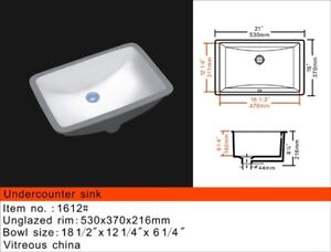 Drop in under mount vanity (oval /Rectangular) sinks from $27!!