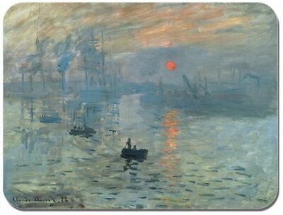 Monet Art Mouse Pad (Claude Monet Impression, Sunrise Mouse Mat. High Quality Art Print Mouse Pad )