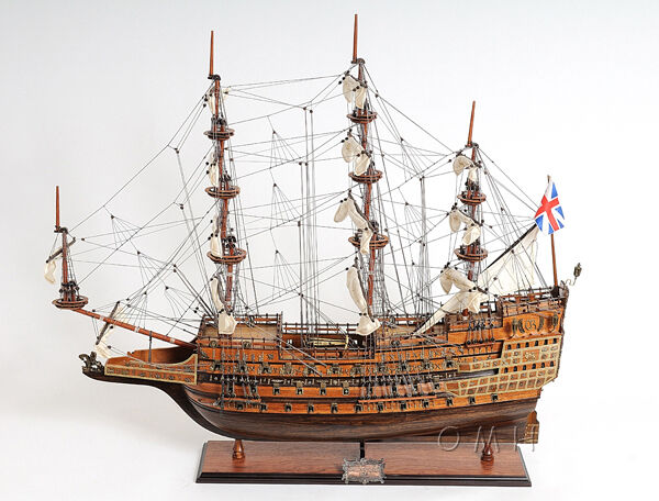 "SOVEREIGN of the Seas 35"" - Handmade Wooden Tall Ship Model T077"