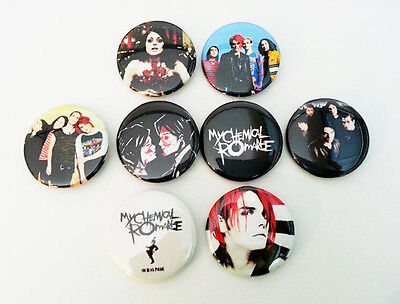 8 piece lot of My Chemical Romance pins buttons badges