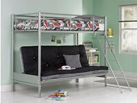Futon double bed base single bunk bed.