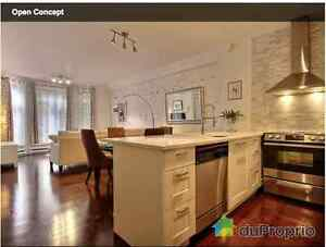 Available June 1 for 1-year lease, modern 3 1/2 renovated condo