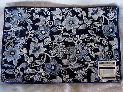 Set of 3 PFALTZGRAFF Blue Meadow Collection Blue Tapestry Placemats - NEW w/TAGS on Rummage