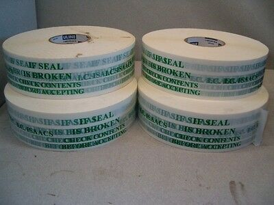 4 Rolls Of Uline Security Packaging Tape With A 3 Core