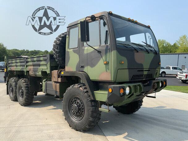 2000 STEWART & STEVENSON M1084A1 5 TON 6X6 Cargo TRUCK W / REAR CRANE