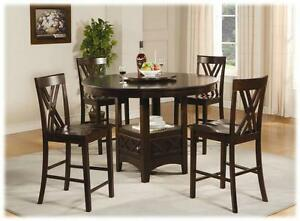 5 Piece 52 Round Counter Height Pub Set
