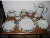 Vintage Crown Dynasty 45 Piece Dinner Set New And Unused.