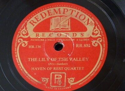 78rpm HAVEN OF REST QUARTET lily of the valley / rose of sharon REDEMPTION