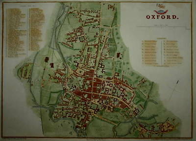 OXFORD PREPARED FOR THE DISPATCH ATLAS CIRCA 1860.