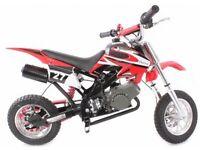 NEW 50CC KIDS MINI MOTO DIRT DEVIL SCRAMBLER OFF-ROAD MOTORBIKE~NEW 2016 BIKE~RED!