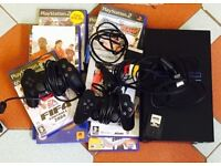Playstation 2 Games console, 8 Games, Cables, Microphones, Bargain, NO OFFERS