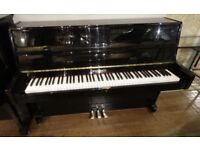 Stunning 2002 Steinbach Gloss Black Upright Piano & Stool - CAN DELIVER