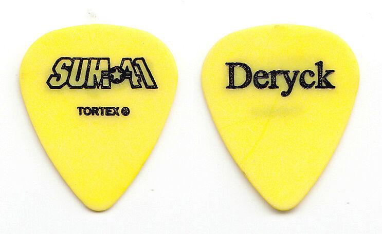 Sum 41 Deryck Whibley Yellow Guitar Pick - 2003 Tour
