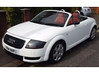 AUDI TT 1.8 QUATTRO 225BHP WHITE WITH RED LEATHER RARE!!! MINT IN/OUT FSH HIGHLY LOADED A1 A2 A3 A4