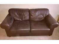 2x 2 seater Ikea Ektorp leather sofas