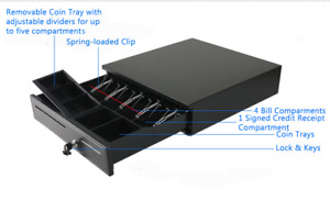 POS Register Heavy Duty Automatic RJ-11 & Manual Cash Drawer