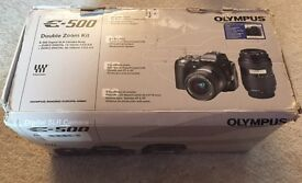 Olympus E500 camera and 2 lenses