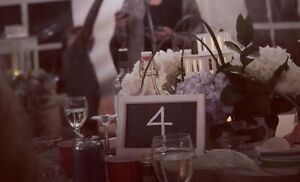 white Mini chalkboards perfect for weddings