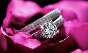 925 STERLING SILVER WEDDING / PROMISE ANNIVERSARY RING SETS