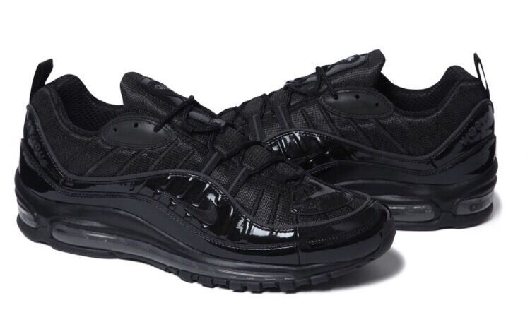 211294882f ... australia supreme x nike air max 98 black size uk 8 11 eur 42.5 46 brand