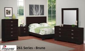 New Year Promotion! Dark Brown Finish, Canadian Made,5 Pc Queen Bedroom Set on Clearance