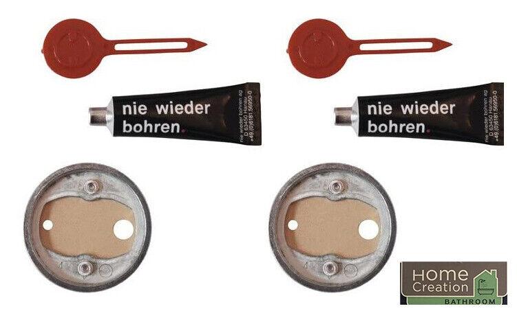 2 x Klebebefestigungsset - Nie wieder Bohren - Befestigungsadapter (Aldi Home)