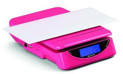 Brecknell Ps25 Electronic Portable Postal Parcel Scale 25 Lb X 0.2 Oz Pink