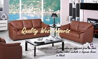 BRAND NEW * Genuine Leather Sofa & Loveseat Set * TAXES INCLUDED