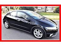 Black Shiny -- 2010 Honda Civic 2.2 i-CTDi ES -- Nice Panoramic Glass Roof-- Great Spec-- Part Ex OK