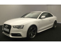 White AUDI S5 COUPE 3.0 T FSI Petrol QUATTRO FROM £114 PER WEEK!