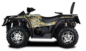 STORM 550 EFI  2016 CAMO 4X4 ATV AUTOMATIC LOADED WITH PLOW & WINCH