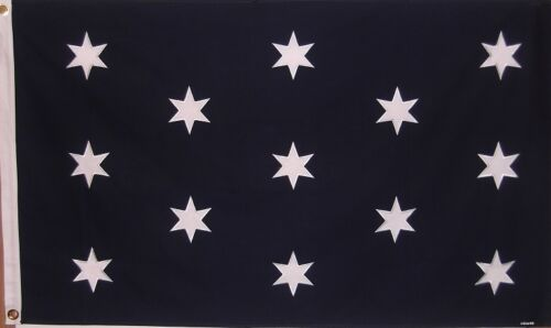 HEAVY DUTY COTTON GENERAL GEORGE WASHINGTON HEADQUARTERS FLAG - SEWN DETAILS -
