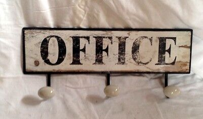 Wall Wardrobe 3 Hook + Motif Shield Office Gift Vintage Wall Decoration Rarity