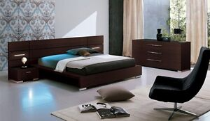 Alf Italy King Size 6pc Bedroom set bed dresser cabinet  mirror