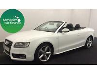 £256.80 PER MONTH AUDI A5 CABRIOLET 2.0 TDI 170S LINE CONVERTIBLE DIESEL MANUAL