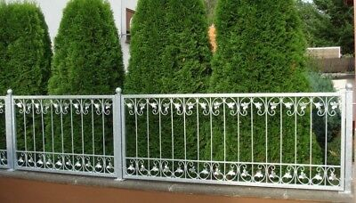 Wrought Iron Fence Fencing Iron Monaco-Z80/150 Fire Galvanised