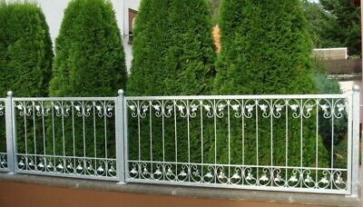 Fence Wrought Iron Metal Fence Element Monaco-Z80/200 Fire Galvanised