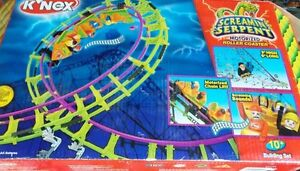 K'NEX SCREAMIN SERPENT MOTORIZED ROLLER COASTER 3 ft. tall 6 ft. long