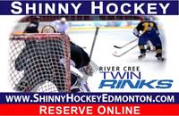 Play Shinny Hockey in Edmonton. Weekdays at Noon Hour