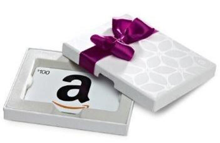 $100 Amazon Gift Card In a Nice White Gift Box, Fast 1-Day Shipping!